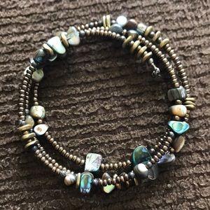 Silpada brown beaded wrap bracelet